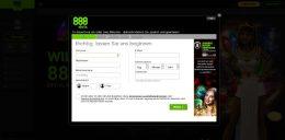 888Slots Vorschau Registrierung