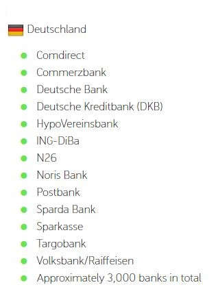 Trustly Banken in Deutschland