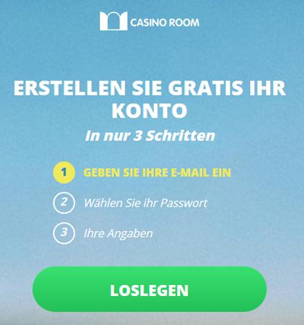 Casino Room Registrierung