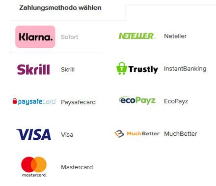 CasinoEuro Mobile Zahlungsmethoden
