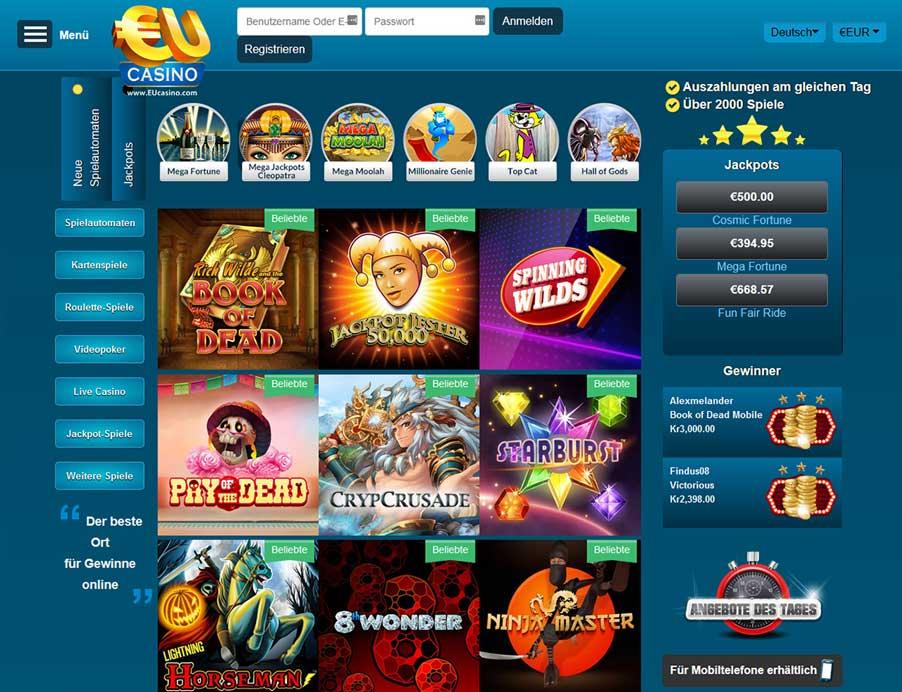Eu Casino Mobile