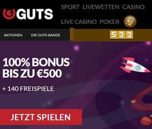 Guts Casino App Bonus