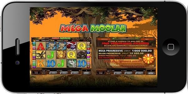 Mega Moolah mobile Vorschau