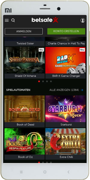 Mobile Spielauswahl