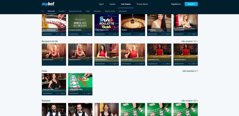 Mybet Casino Mobile