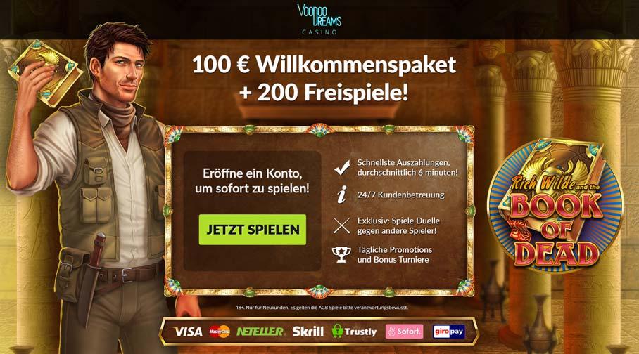 VooDoo Dreams Bonus Banner