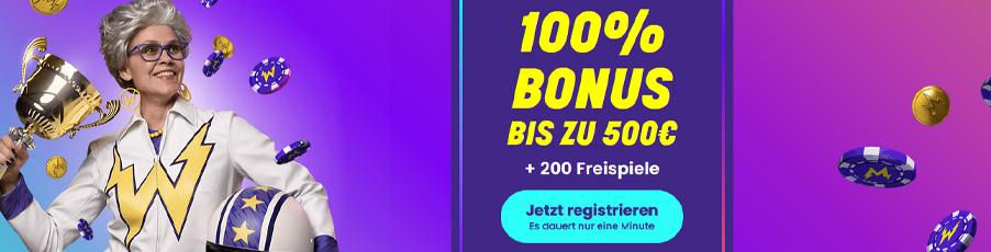 Wildz Casino Bonus Banner